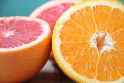 Grapefruit statt Blutorange im Blutorangenparfait