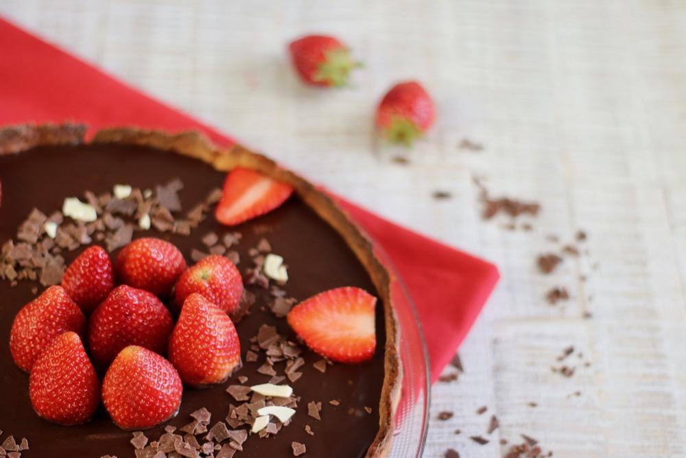 Schoko-Tarte Erdbeeren